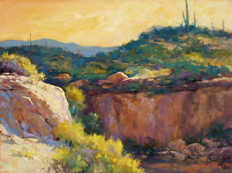 """""""Box Canyon"""" Oil on Canvas """"18 x 24"""""""