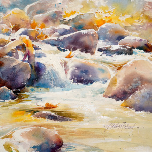 "VIRTUAL CLASS ""Paint a Mountain Stream"" @ Virtual Interactive Escapade Workshops - V.I.E.W."