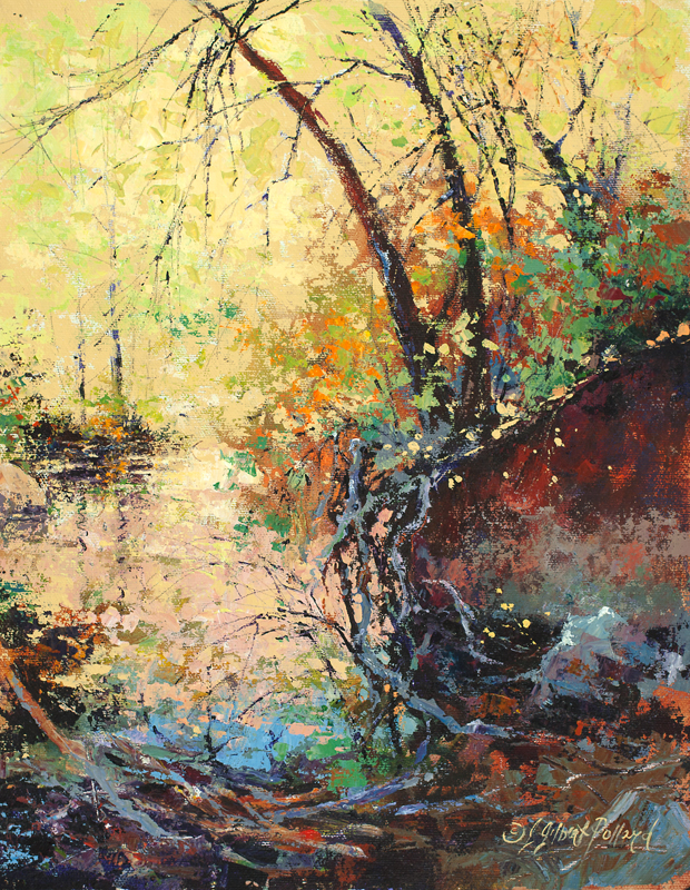 """West Fork Bayou"" Acrylic on Archival Canvas Board ""14x11"""