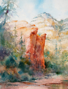 """Watercolor Unleashed! PAINT SEDONA"" - Zoom Online Classes @ Scottsdale Artists' School"