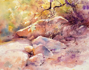 """Watercolor Unleashed: The Rocky Landscape"" @ SHEMER ART CENTER"