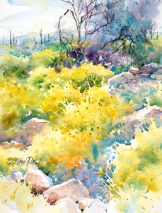 """WATERCOLOR UNLEASHED: SPRING IN THE DESERT"" @ Virtual Class-Shemer Art Center"