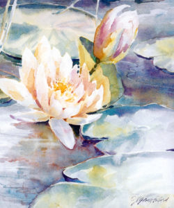 """Watercolor Unleashed! WHITE FLOWER IN TRANSPARENT WATERCOLOR"" @ VIRTUAL - Scottsdale Artists' School"