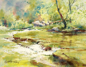 """Watercolor Unleashed! MOUNTAIN STREAM"" - Online Zoom Class @ Scottsdale Artists' School"