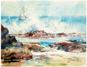 """Watercolor Unleashed! WET & WILD OCEAN"" - Online, via Zoom"