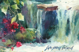 """""""Watercolor Unleashed! WILD ROSES on a ROCKY BANK of LAKE SUPERIOR"""""""